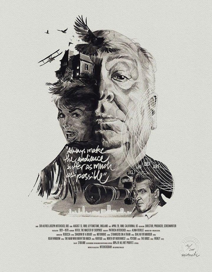Portraits, Alfred Hitchcock / Fine-Art-Druck