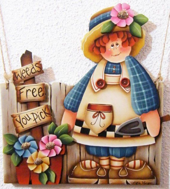 Hand Painted Wooden Gardening Sign  Weeds por paintingfromtheheart, $95.00
