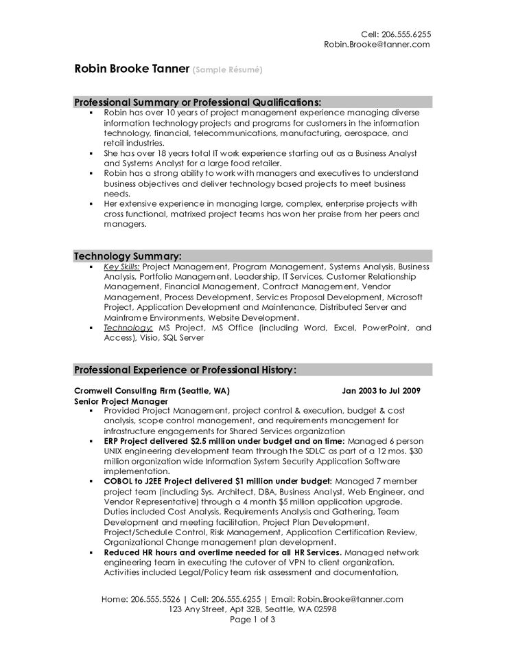 The 25+ best Resume writing examples ideas on Pinterest Resume - mainframe administration sample resume