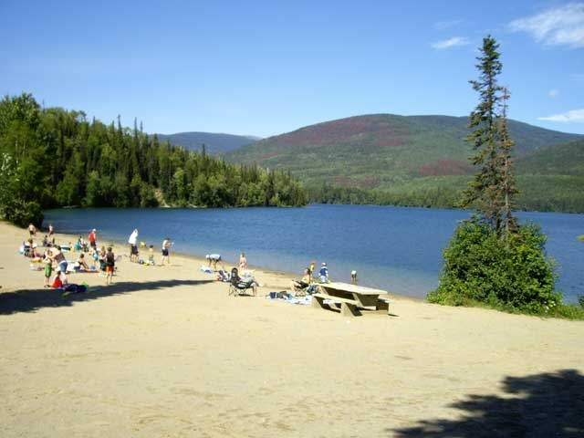Morfee lake , Mackenzie B.C  Had so much fun here , loved jumping off of the dock and swimming