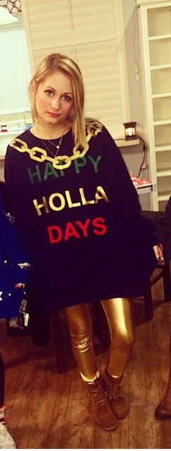 Happy Holla Days Sweater by LETSGETWAISTED on Etsy
