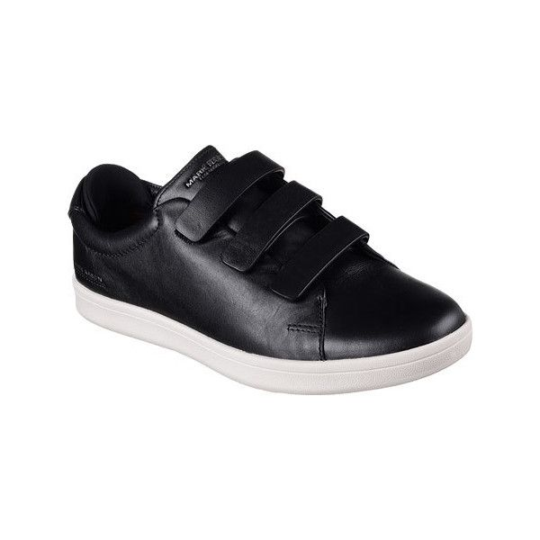 Men's Mark Nason Skechers Bunker Sneaker - Black Casual ($100) ❤ liked on Polyvore featuring men's fashion, men's shoes, men's sneakers, black, casual, sneakers, skechers mens shoes, mens leather sneakers, mens black leather shoes and mens black leather sneakers