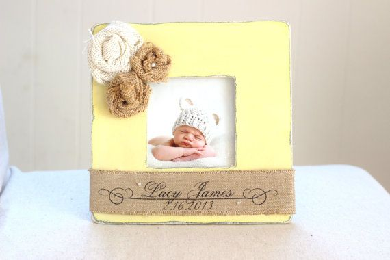 Baby Picture Frame Nursery GIFT Personalized by CrystalCoveDS, $28.00