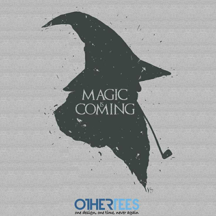"""Magic is Coming"" by 2mz   Shirt on sale until 21st Feb on www.othertees.com"