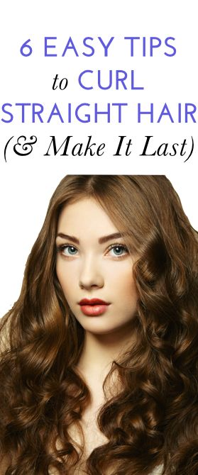 How to get long-lasting curls (even if your hair is stick-straight)! via@bustledotcom