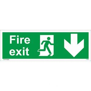 Fire Exit Signs, Online Signs Shop https://www.eusigns.co.uk/shop/health-and-safety-signs/prohibition-and-restriction-signs/fire-exit-arrow-down-sign/