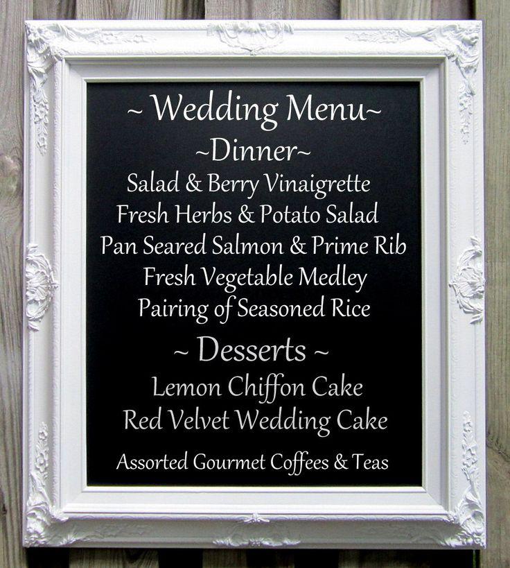 WEDDING CHALKBOARDS For SALE Large Elegant Wedding Menu Board Framed Chalkboard Baroque White Magnetic Baroque Chalk board for Weddings by RevivedVintage on Etsy https://www.etsy.com/listing/81422163/wedding-chalkboards-for-sale-large