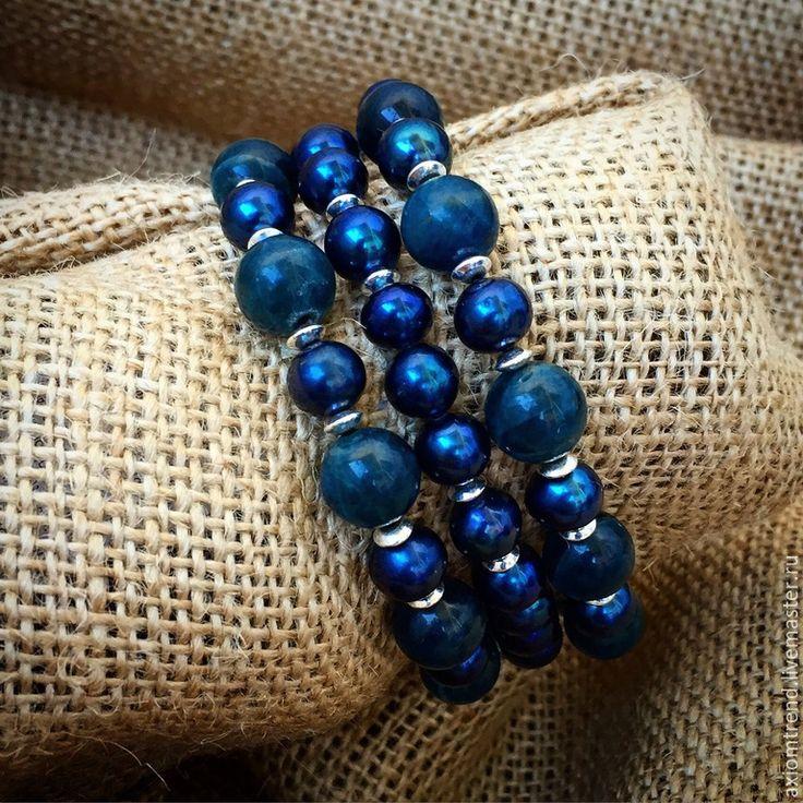 """Купить Set браслетов """"Giacomo C.SH."""" - разноцветный, set браслетов, натуральные камни"""