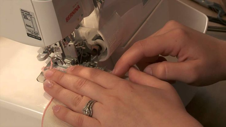 How to do a narrow roll hem with your serger by Amy Allen.