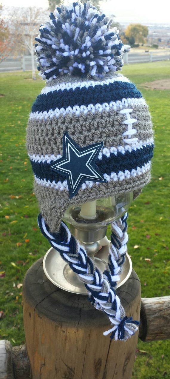 Check out this item in my Etsy shop https://www.etsy.com/listing/256079869/handmade-dallas-cowboys-inspired-crochet