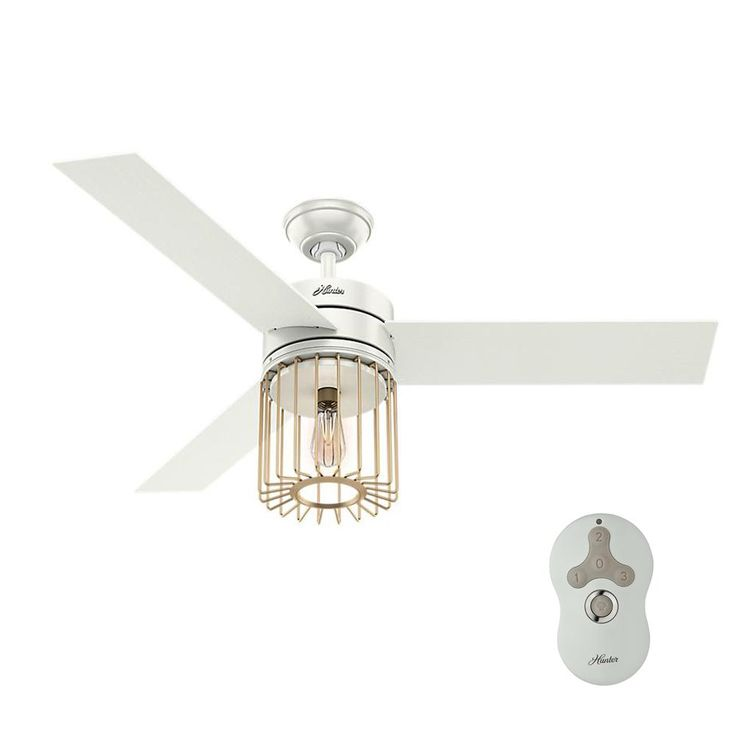 led indoor fresh white ceiling fan with remote control and light - Remote Control Ceiling Fans