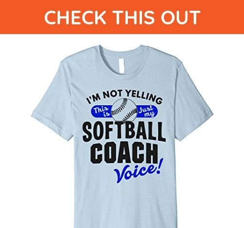 Mens Softball Coach Voice Premium Shirt Funny Quote Youth Sports Large Baby Blue - Funny shirts (*Amazon Partner-Link)