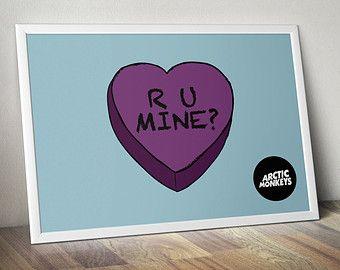 Arctic Monkeys - R U Mine? AM Alex Turner Love Heart Music Poster Print - Wall Art