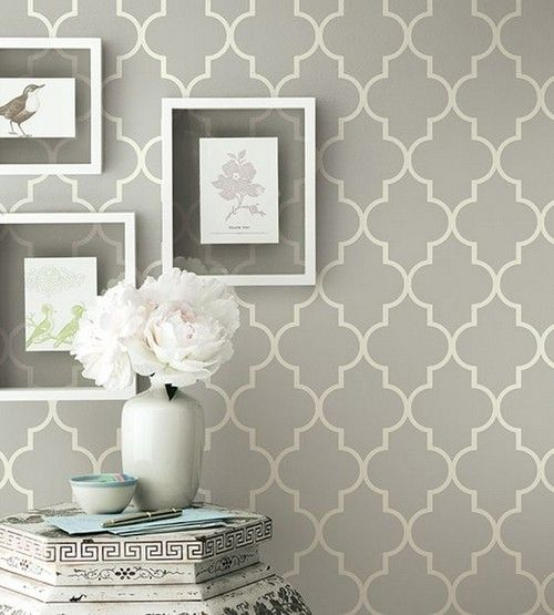 Grey contemporary geometric wallpaper