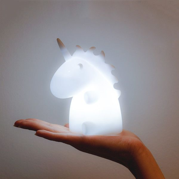 Enchant your environment with the soft, soothing glow of unicorn magic. This charming, little creature can be used as a pleasant nightlight, but makes for a dreamy desktop companion. Requires 3 AAA ba