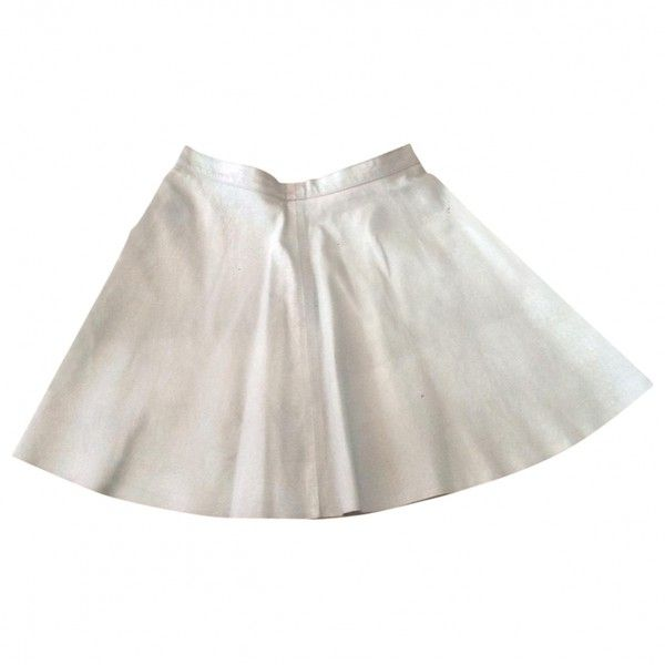 1000 ideas about white leather skirt on
