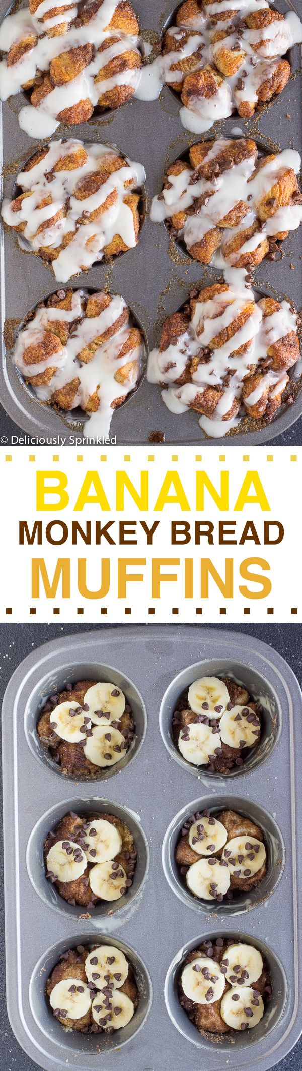 The BEST Banana Monkey Bread Muffins: