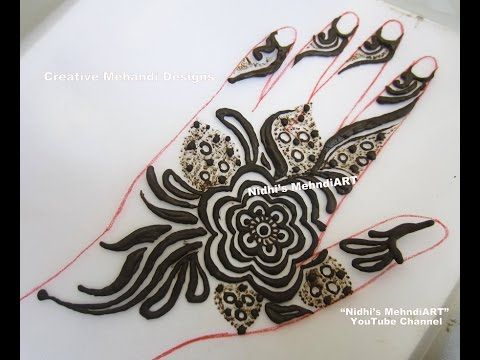 YouTube Floral Flower Gulf Style Henna Mehndi