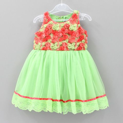 Green Beauty Dress - Infant, Toddler & Girls