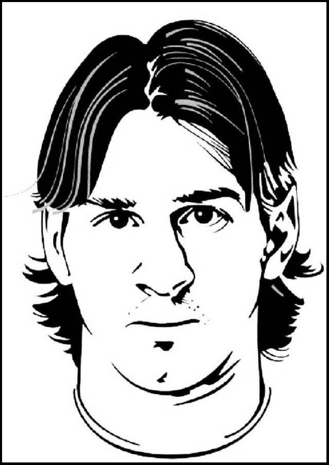 Lionel Messi Mask Soccer Coloring And Drawing Pages See The