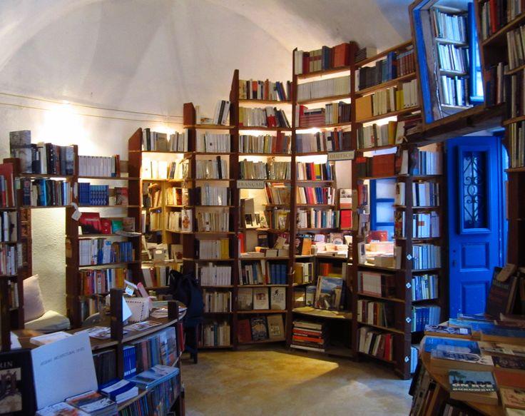 #travelcolorfully when in santorini, visit atlantic books