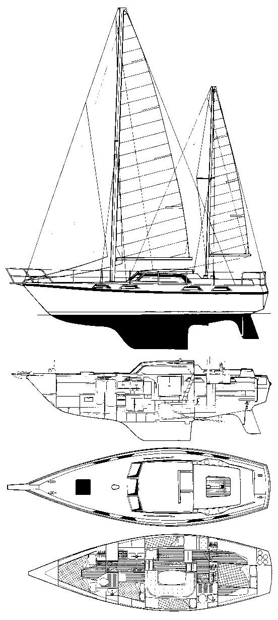 Victor 40 (Colvic) drawing on sailboatdata.com
