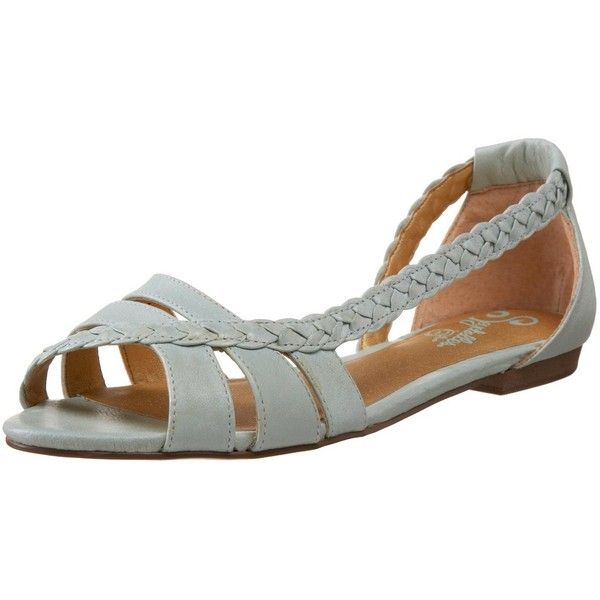 Seychelles Women's Get Outta Town Sandal ($80) ❤ liked on Polyvore featuring shoes, sandals, scarpe, flats, zapatos, seychelles footwear, woven shoes, woven flats, open toe shoes and open toe flat shoes