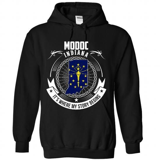 Modoc - INDIANA, Its Where My Story Begins - #gift for mom #man gift. MORE INFO => https://www.sunfrog.com/States/Modoc--INDIANA-It-Black-Hoodie.html?68278