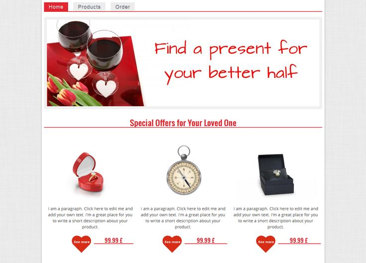 Another #Valentine's template you might like to use on your website to wish your clients Happy Valentine's Day!