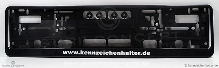 Kennzeichenhalter, Kennzeichenhalterung schwarz (Premium) EU-Norm 520x110mm