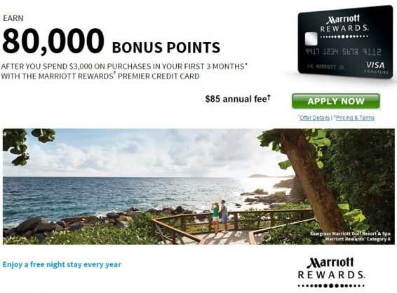 Marriott Rewards® Premier Credit Card 80,000 points offer - http://www.mightytravels.com/2016/05/marriott-rewards-premier-credit-card-80000-points-offer/