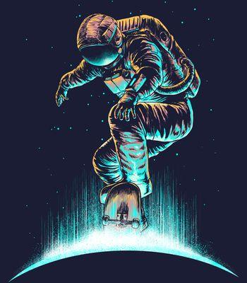 Arte SPACE GRIND de Carbine | Disponível em poster e case de celular. Só na @toutsbrasil