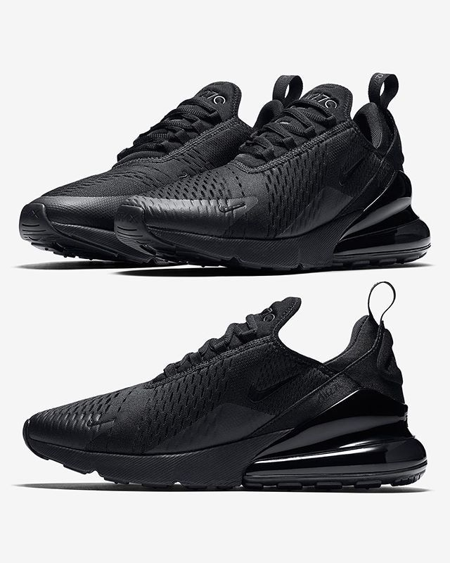 huge selection of b3817 e03a0 The Swooshs latest NIKE AIR MAX 270 sees the model receive the TRIPLE BLACK  treatment available