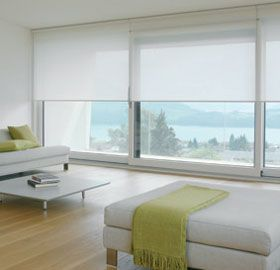Like this for the boys room. maybe guest rooms as well. Leaning towards an automatic system for sleekness. Not keen on cord. Silent Gliss Roller Shade