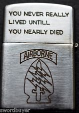 Vintage Engraved VIETNAM ZIPPO Cigarette Lighter Special Forces/Cu Chi 67-68