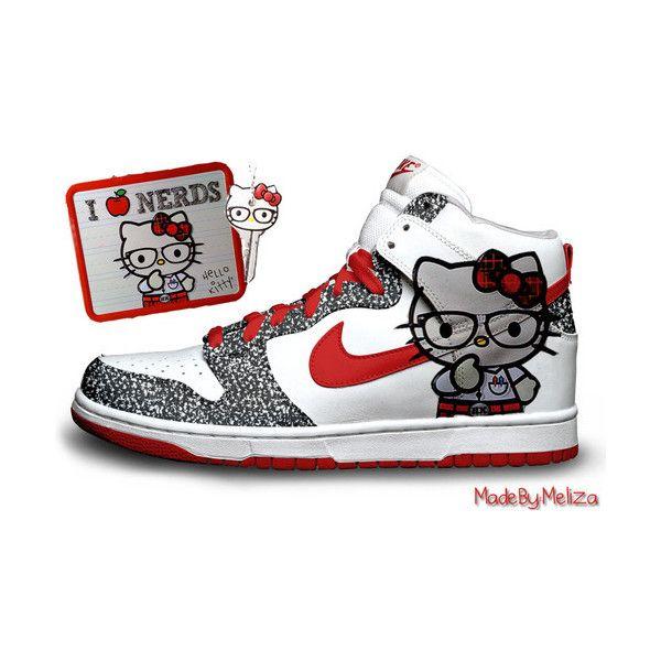 separation shoes 94d0d 805e0 i heart nerd hello kitty nike dunks
