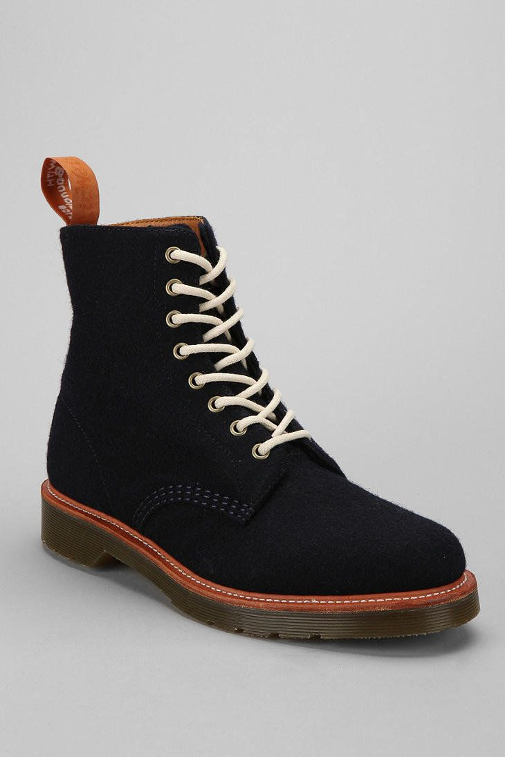 ambivalence's save of Dr. Martens Beckett 8-Eye Wool Boot on Wanelo