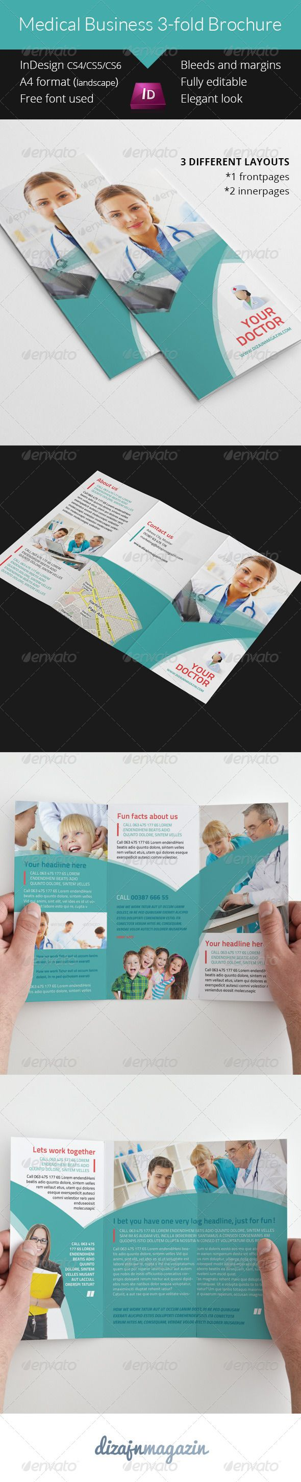 12 best templates ideas images on pinterest indesign for Indesign 3 fold brochure template