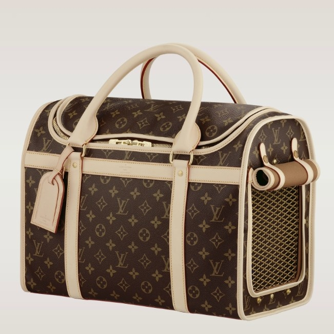 (Width*Height*Depth) 8.66 X 11.81 X 15.75 inches  - Monogram canvas, cross grain rounded leather handles, washable lining  - Golden brass pieces  - Double zip-around closure  - Breathable side mesh with roll-up flap