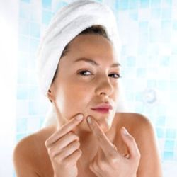 Natural Cure For Pimples - Now why would a 50 year old woman need to pin this, wonders the 50 year old woman with a bag assed zit on her face!