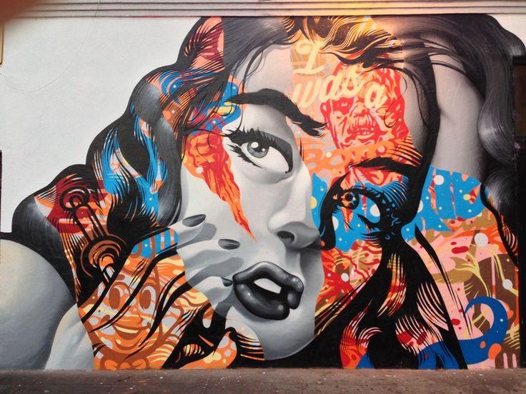 Best Graff Art Street Images On Pinterest Murals Street Art - Artist paints incredible seaside murals balanced on surfboard