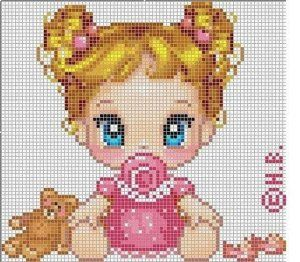 It's just a link to the image not a pattern. Baby girl #cross #stitch