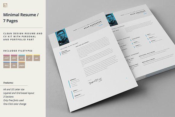 Resume - Portfolio - Letter by Egotype on @creativemarket