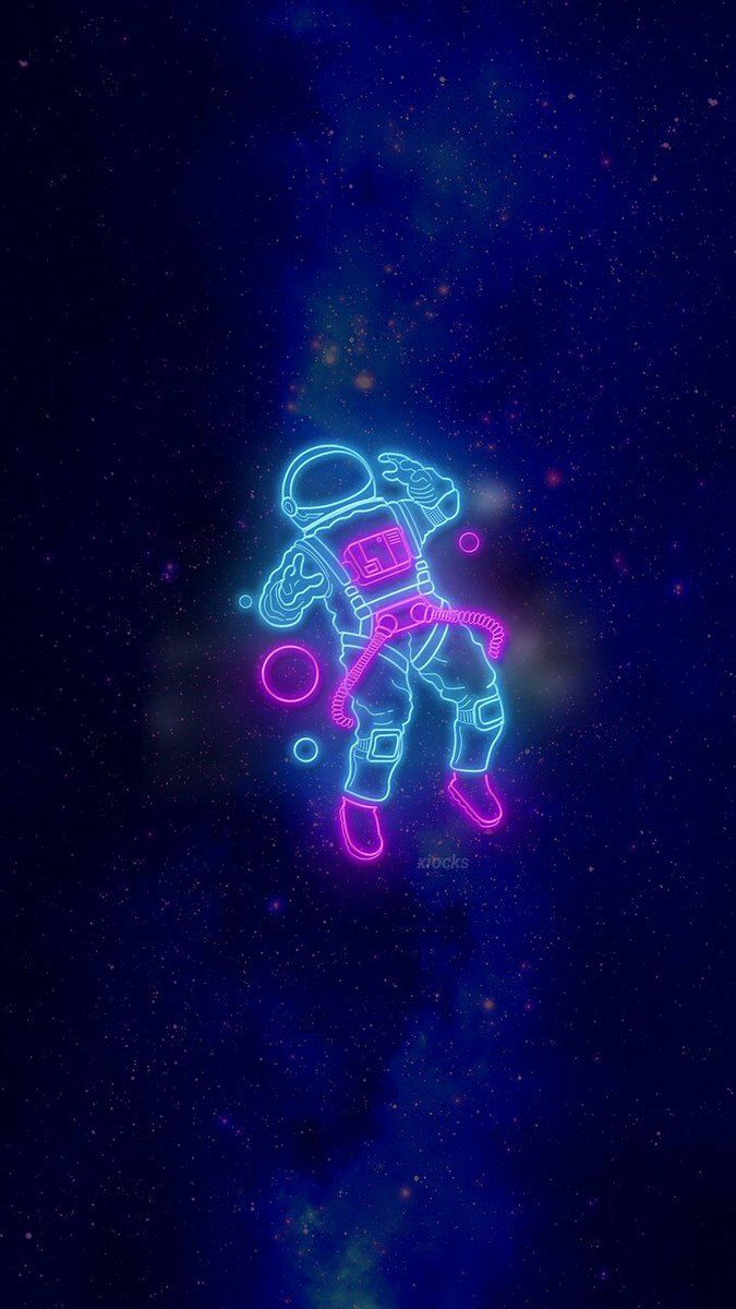 Neon Astronaut Wallpaper Credits Xiockscreen On Twitter Astronaut Wallpaper Wallpaper Iphone Neon Neon Wallpaper