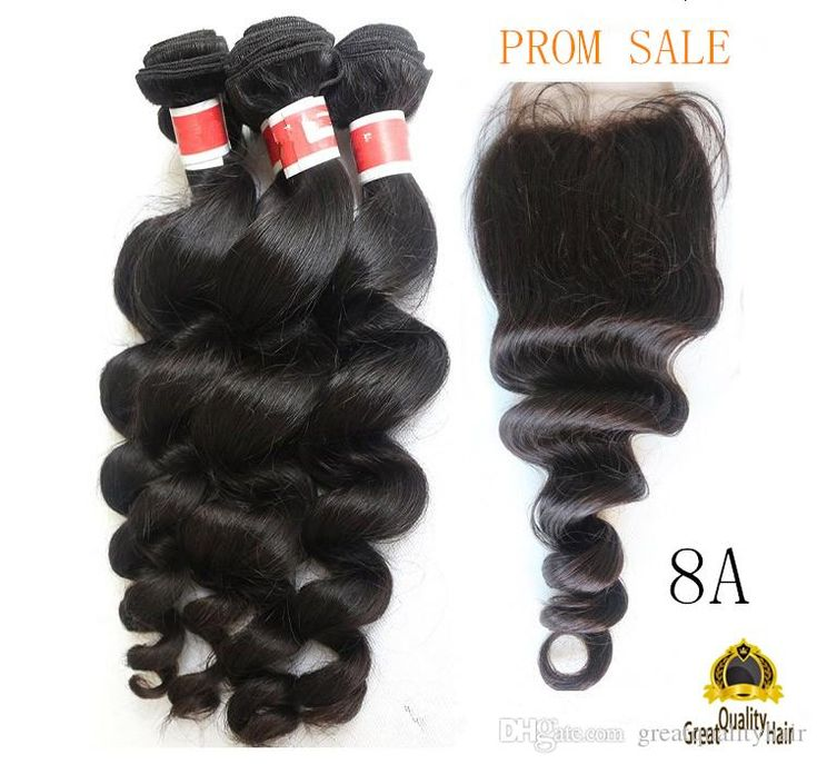 Wholesale Brazilian Hair Cheap 8A Peruvian Indian Malaysian Hair Extension Hair Loose Wave With Closure 8-30 Inch With Eyelssh Gift Online with $114.58/Piece on Greatqualityhair's Store | DHgate.com