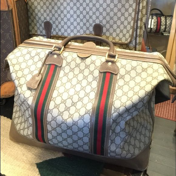 eb7f828f0 Vintage Gucci Weekender This is a vintage weekender but in new condition,  comes with the keys to lock it. Gucci Bags Travel Bags | My Posh Picks |  Gucci ...