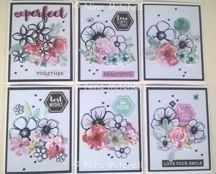NM cards - Uniquely Creative Kit Club March 2017 - Wildflower Collection 1