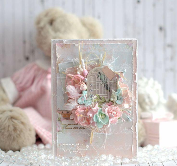 Шебби открытки для вдохновения, валентинки бумаги своими