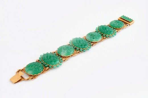 Винтажный браслет. Металл, золочение, пекинское стекло. Марка: Askew London 1980-е гг. Англия #vintage #jewellery #jewelry #trendy #style #chic #women #gift