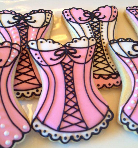 Corset Sugar Cookies  3 colors  1 Dozen by LaPetiteCookie on Etsy, $36.00